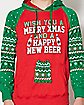 Happy New Beer Ugly Christmas Hoodie Sweatshirt