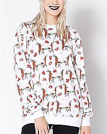 Deer Pong Fleece Holiday Sweatshirt