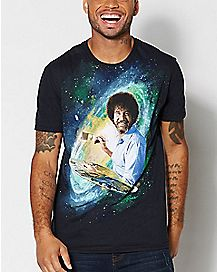 Galaxy Bob Ross T Shirt