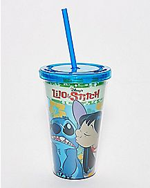Kiss Lilo And Stich Cup With Straw Cup With Straw - 16 oz.