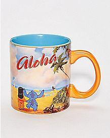 Aloha Lilo And Stich Coffee Mug 20 oz