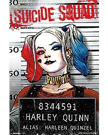 Harley Quinn Suicide Squad Mug Shot Poster