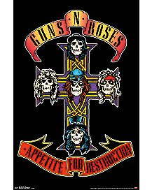 Appetite for Destruction Guns N' Roses Poster
