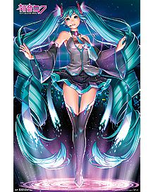 Projection Hatsune Miku Poster
