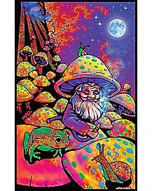 Blacklight Mushroom Man Poster
