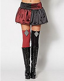 Arkham Harley Quinn Thigh High Tights