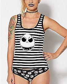 Jack Nightmare Before Christmas Tank Top and Panties