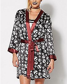 Jack Skellington Silky Robe - The Nightmare Before Christmas