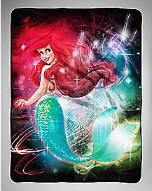 Glow Silk Touch Ariel Fleece Blanket - The Little Mermaid