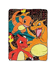Fire Pokemon Fleece Blanket