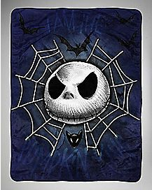 Jack Skellington Web The Nightmare Before Christmas Fleece Blanket