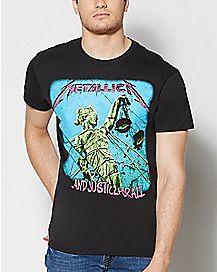 Neon Justice Metallica T Shirt