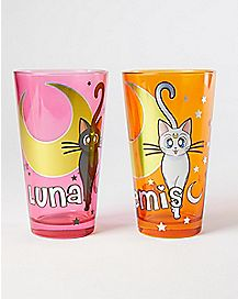Sailor Moon Pint Glasses - 16 oz - 2 Pack