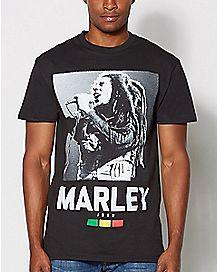 Live Concert Bob Marley T Shirt