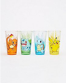 Pokemon Pint Glasses 4 Pack - 16 oz