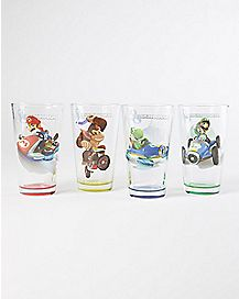 Mario Kart Pint Glass Set 4 Pack - 16 oz.