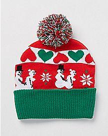 Snowman Sex Pom Beanie Hat