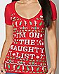 On the Naughty List T Shirt