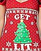 Get Lit Christmas T Shirt