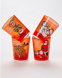 Dirty Christmas Shot Glass 4 Pack - 1.5 oz