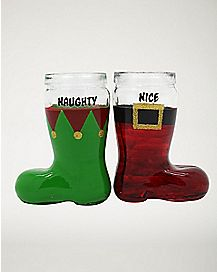 Naughty and Nice Shot Glasses - 1.5 oz