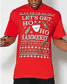 Let's Get Ho Ho Hammered T Shirt