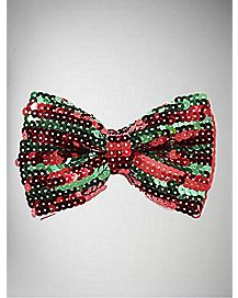 Red and Green Sequin Bowtie