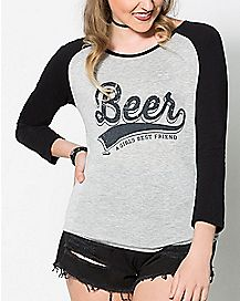 Beer Raglan T Shirt
