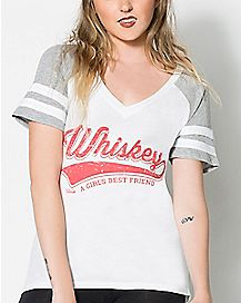 A Girls Best Friend Whiskey T Shirt