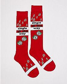 Single All The Way Knee High Socks