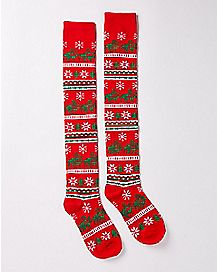 Lovin Reindeer Thigh High Socks