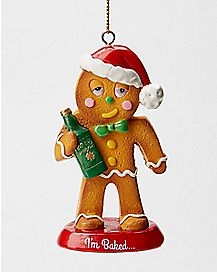 Drunk Gingerbread Man Ornament