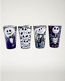 Nightmare Before Christmas Pint Glass Set 4 Pack - 16 oz