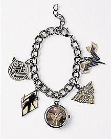 Wonder Woman Watch Charm Bracelet