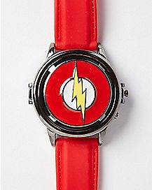 Spinning Logo Flash Watch - DC Comics