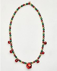 Jingle Bell Beaded Necklace