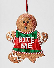 Gingerbread Man Bite Me Ornament