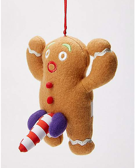 Naughty gingerbread ornament spencer 39 s for Funny christmas decorations