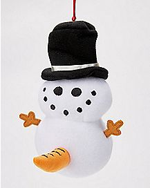 Naughty Snowman Ornament