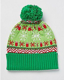 Get Lit Christmas Beanie Hat