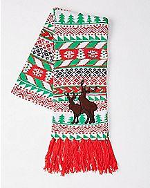 Humping Reindeer Christmas Scarf