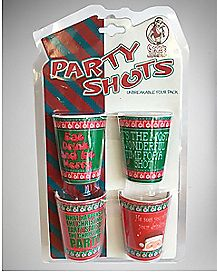 Christmas Party Shot Glass 4 Pack