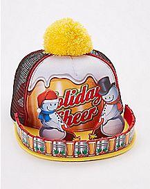 3D Snowmen Snapback Hat