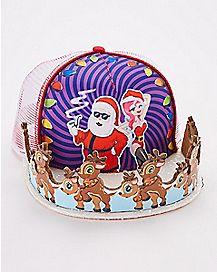 3D Humping Reindeer Snapback Hat