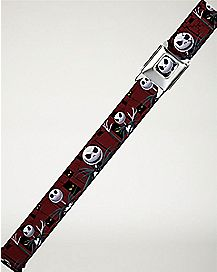 Nightmare Before Christmas Maroon Seatbelt