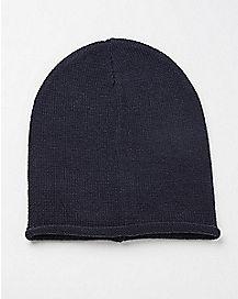 Slouchy Beanie Hat - Navy