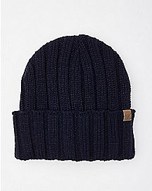 Ribbed Navy Cuff Beanie