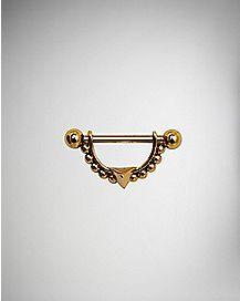Bronze Colored Spike Nipple Shields - 14 Gauge