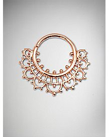 16 Gauge Rose Gold Seamless Hoop Septum Ring