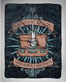 Beasties Fantastic Beasts and Where To Find Them Fleece Blanket